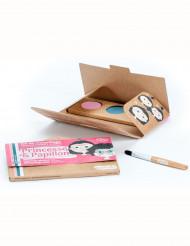Schminkset Prinzessin und Schmetterling Make-up Namaki Cosmetics mit Pinsel rosa-blau-weiss