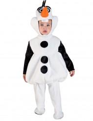 Schneemann Kostüm für Kinder Overall weiss-schwarz