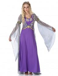 Mittelalterliche Prinzessin Damenkostüm lila-silber