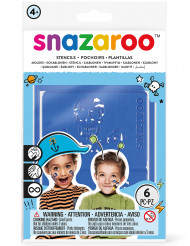 Lizenzartikel Schminkschablonen Snazaroo für Jungen bunt