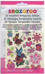 Lizenzartikel Snazaroo Tattoos für Mädchen 20-teilig bunt