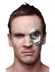 Terminator Genisys T-1000 Auge Halloween-Latexapplikation Lizenzartikel silber