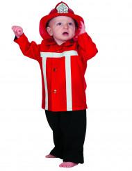 Kleiner Feuerwehrmann Babykostüm rot-weiss-schwarz