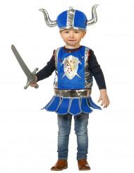 Kleiner Ritter Kinderkostüm Mittelalter blau-silber