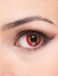 Teuflischer Dämon Kontaktlinsen rot-gelb-schwarz