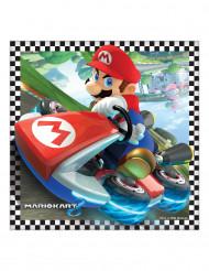 Super Mario Kart Servietten Nintendo®-Lizenzartikel 16 Stück bunt 33x33cm
