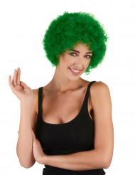 Clown Afro-Perücke grün