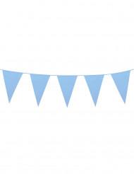 Große Wimpel-Girlande, himmelblau