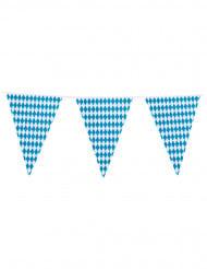 Oktoberfest Wimpel-Girlande blau-weiss