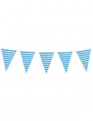 Oktoberfest Girlande Party-Plastikgirlande 10 Meter blau-weiss