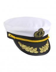 Kapitänsmütze für Erwachsene, schwarz-weiß