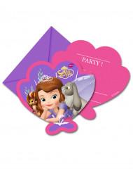 Disney Sofia die Erste™ Einladungskarten Kindergeburtstag Lizenzware 6 Stück bunt
