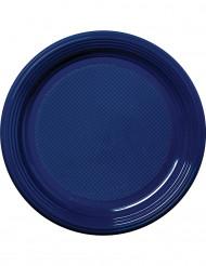 Partyteller Plastikteller 30 Stück blau 22cm