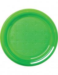 Kunststoff-Partyteller 30 Stück grün 22cm