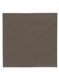 Papierservietten Party-Zubehör 50 Stück braun 38x38cm