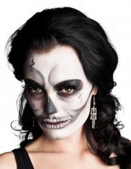 Skelett-Ohrringe Halloween-Schmuck silber