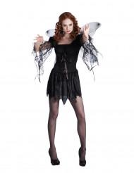 Dunkle Fee Halloween Kostüm für Damen schwarz