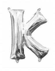 Aluminium-Ballon Buchstabe K silber 33cm