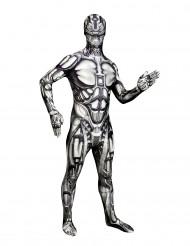 Android Morphsuit Halloween Roboter schwarz-weiss