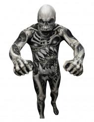 Monster Skelett Morphsuit Halloween schwarz-grau