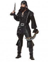 Dunkler Pirat Freibeuter Herrenkostüm schwarz