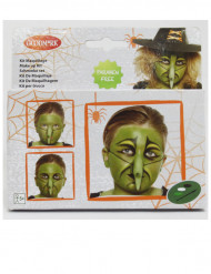 Halloween Hexe Make-up Set für Kinder bunt
