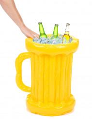 Aufblasbare Bierkrug-Kühlbox Getränkekühler gelb