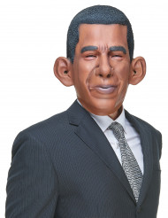 Lustige Latex-Maske Barack braun-schwarz