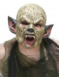 Latex Maske Ork für Erwachsene bunt