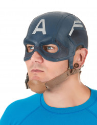 Amerikanischer Soldat Latex-Maske blau-braun