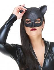 Katzenkostüm-Maske Halbmaske schwarz