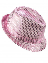 Edler Borsalino Pailletten-Hut rosa