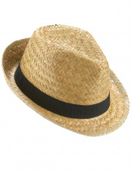 Strohhut für Erwachsene mit schwarzem Band