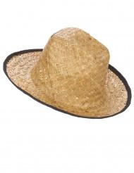 Cowboy-Hut Stroh-Hut beige-schwarz