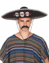 Dia de los Muertos Sombrero Halloween-Kostümaccessoire schwarz-bunt