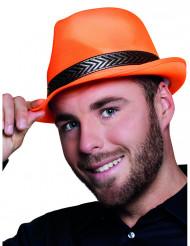 Hut mit Band für Erwachsene orange-schwarz
