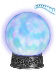 Magische Kristallkugel leuchtend silber-bunt 22x25cm