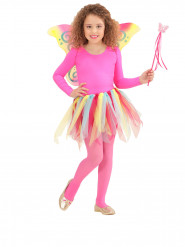 Kostüm Set Fee für Kinder 3-teilig bunt