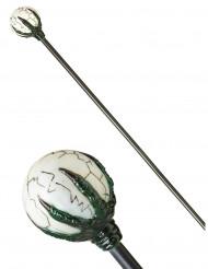 Zepter für Magier Kostümzubehör grau-weiss 122cm