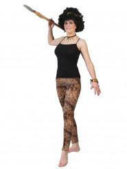 Leoparden-Damenleggings Kostümzubehör braun