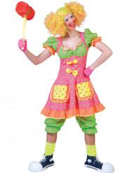 Clownkostüm mit Punkten für Damen bunt
