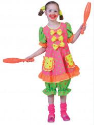 Lustiges Clownkostüm mit Punkten für Kinder bunt