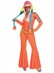 Overall 70er Jahre Anzug orange