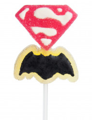 Lutscher - Superman VS. Batman rosa-gelb-schwarz