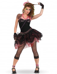 80er Jahre Damen-Kostüm schwarz-rosa