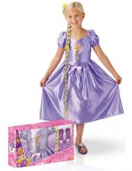 Rapunzel Lizenz-Kostümset 3-teilig lila-gelb