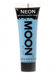 Moon Glow - Neon UV Gesicht- und Körperfarbe Schminke Makeup Bodypainting fluoreszierend pastell blau 12ml