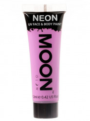 Moon Glow - Neon UV Gesicht- und Körperfarbe Schminke Makeup Bodypainting fluoreszierend pastell lila 12ml