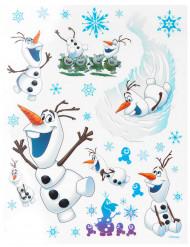 Sticker Fensterbilder Lizenzware Olaf Die Eiskönigin 29-teilig bunt