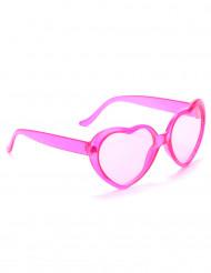 Herz Party-Brille Spassbrille pink
